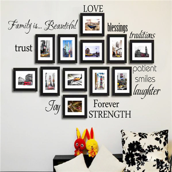 New Design 3d Effect Wall Sticker The Family Photo Frames Wall ...
