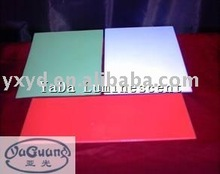 luminous acrylic board/photoluminescent rigid sheet/glow in the dark sheet