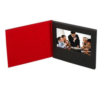 High quality leather material custom printed 7 inch HD screen mp4 player for advertising
