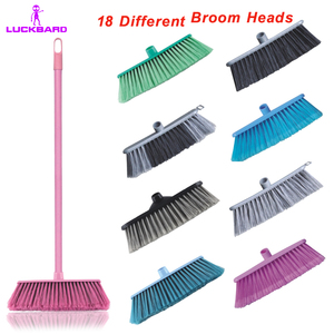 Plastic Cleaning Soft Sweeping Easy Broom with Replaceable Head