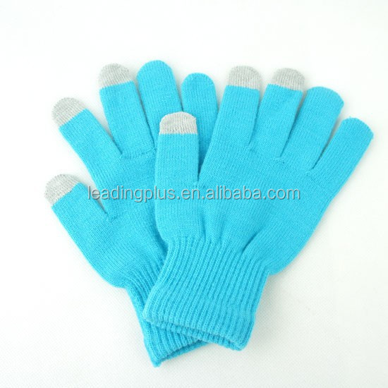 2015 Fashional popular touch glove Customized Plain colors Touch screen Gloves