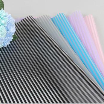Pp Material Plastic Cellophane Flower Wrapping Paper With Lines