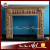 Hand Carved Marble Indoor Fireplace Mantle
