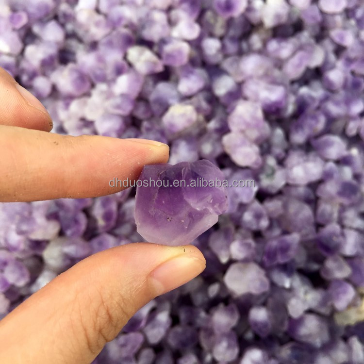 Wholesale 15-20MM Natural Amethyst Crystal Bulk Untreated Small Rough Amethyst Prices