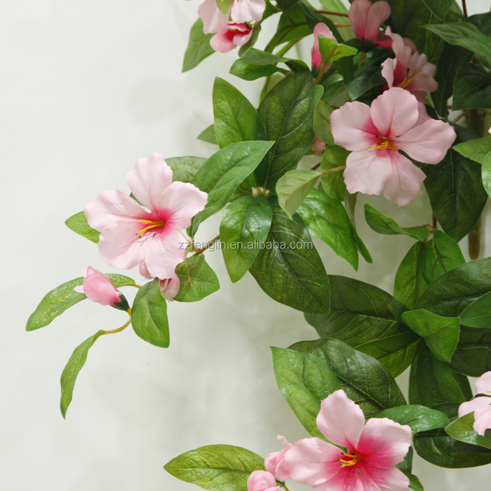 Factory Cheap Wholesale Hanging Hibiscus Artificial Flower For Home