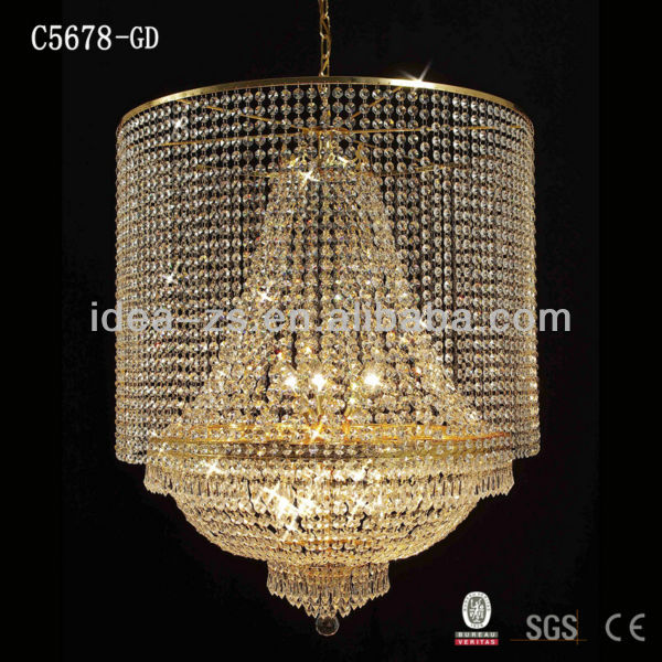 High Quality Hotel Project Big Chandeliers Decorative Chandelier Light Unique Crystal Factory