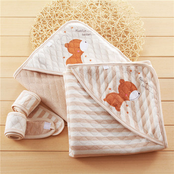 Factory direct yarn-dyed jacquard air layer kitting fabric for baby swaddle blanket