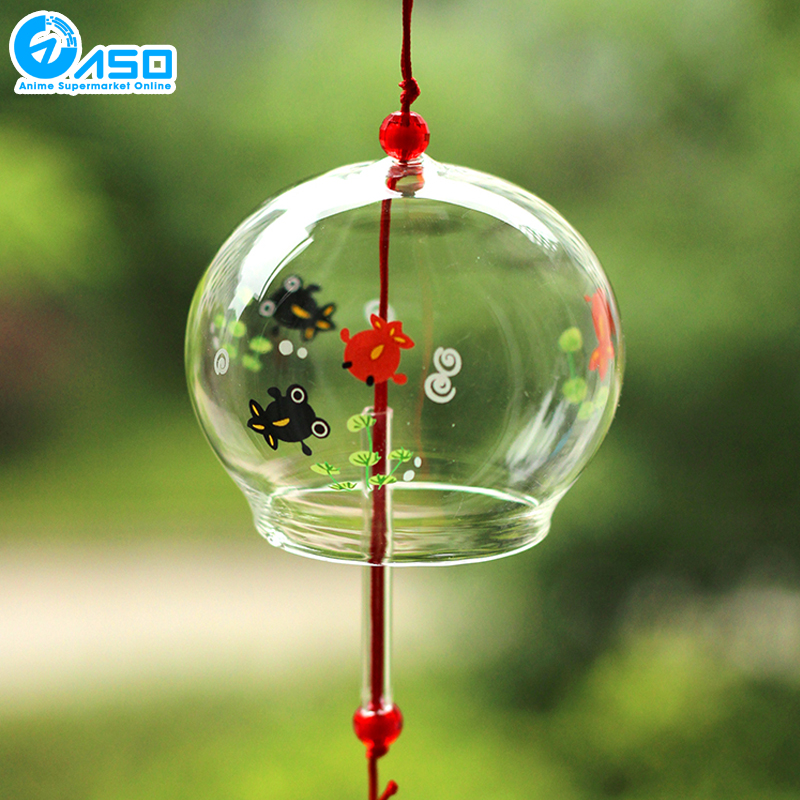 2pcs garden glass wind chimes octopus style summer Cozy Japanese Traditional wind bell car hanging pendant home decoration gifts