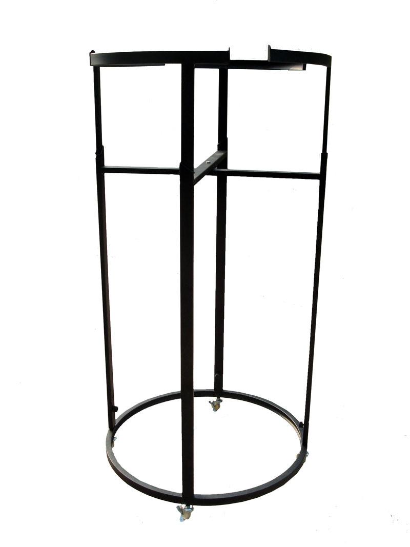 metal hanging bar circle clothes rack with hang rail display racks hsxz292