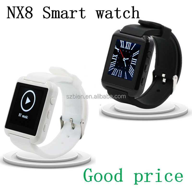 Touch Screen NX8 smart watch Bluetooth Projector Mobiles Phones 3G Wrist smart Watch with Caller ID