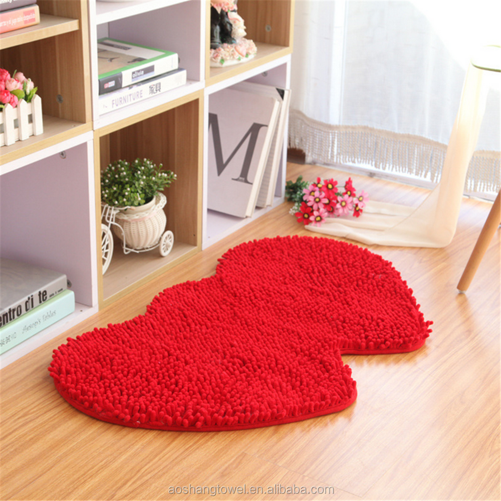 anti slip PVC base microfibre fabric loopy chenille mat for floor