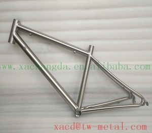 Mini road bike frame Customized titanium road bicycle frame with handing brush finished Titanium road bike frame made in China