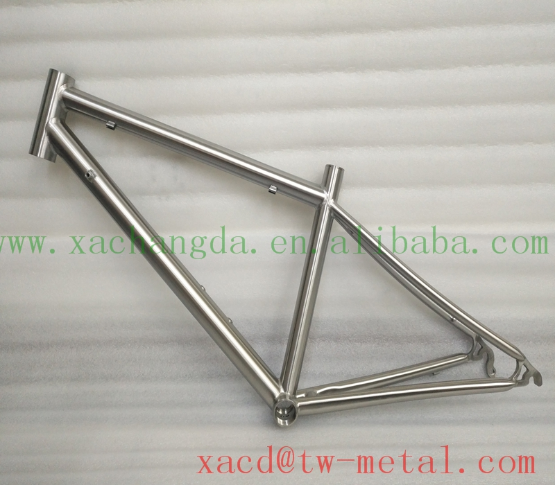 Mini road bike frame Customzied titanium road bicycle frame with handing brush finished Titanium road bie frame made in China