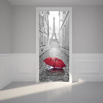 classical paris eiffel tower design 3d wall sticker eco-friendly pvc