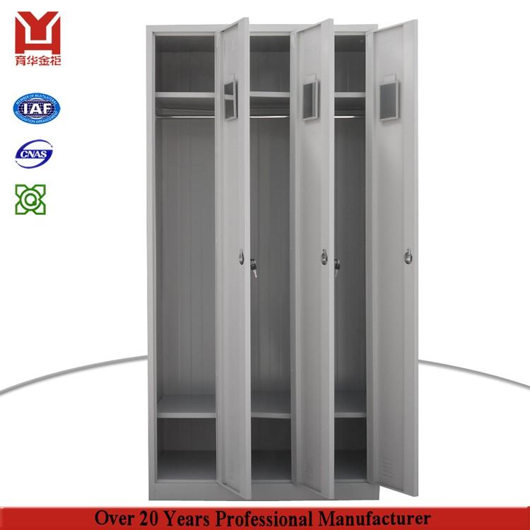 worker 3 door wardrobe locker steel clothes cabinet, View clothes ...