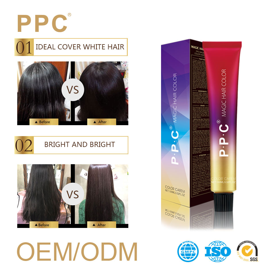 Italian hair color brands professional olive lovely permanent dye anti-allergy hair color cream