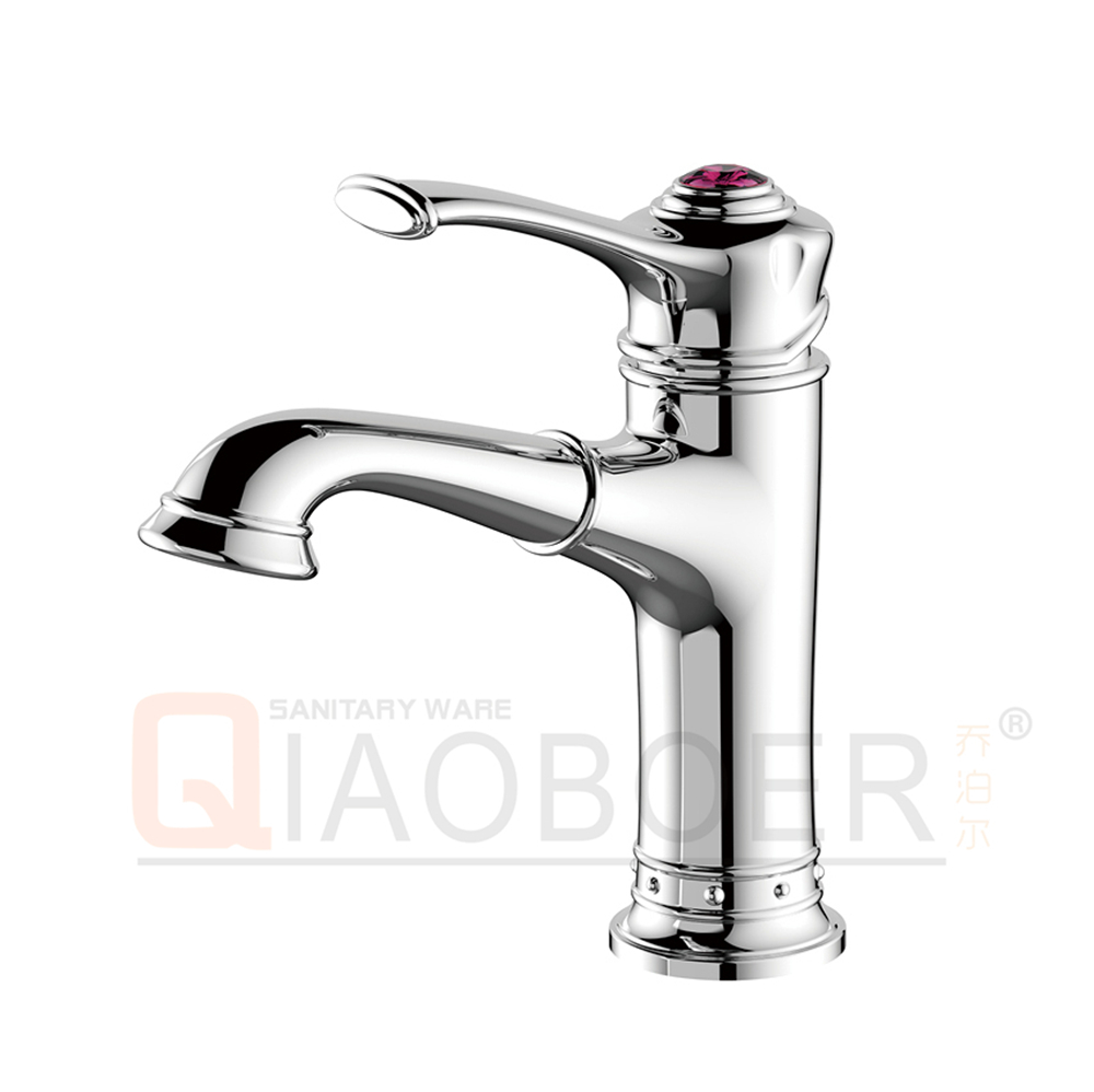 High quality single lever sanitary ware basin sink faucet for bathroom