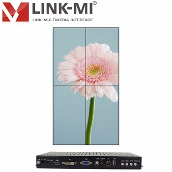 Portrait 2x2 Video Wall Controller 4 Channel HDMI+DVI+VGA+CVBS+ATV+USB four images stitching Splicing processor