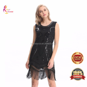 2b5c8c00 BestDance 1920s Flapper Dress Costume Gatsby Charleston Art Deco 30's Sequin  Fringe Dress