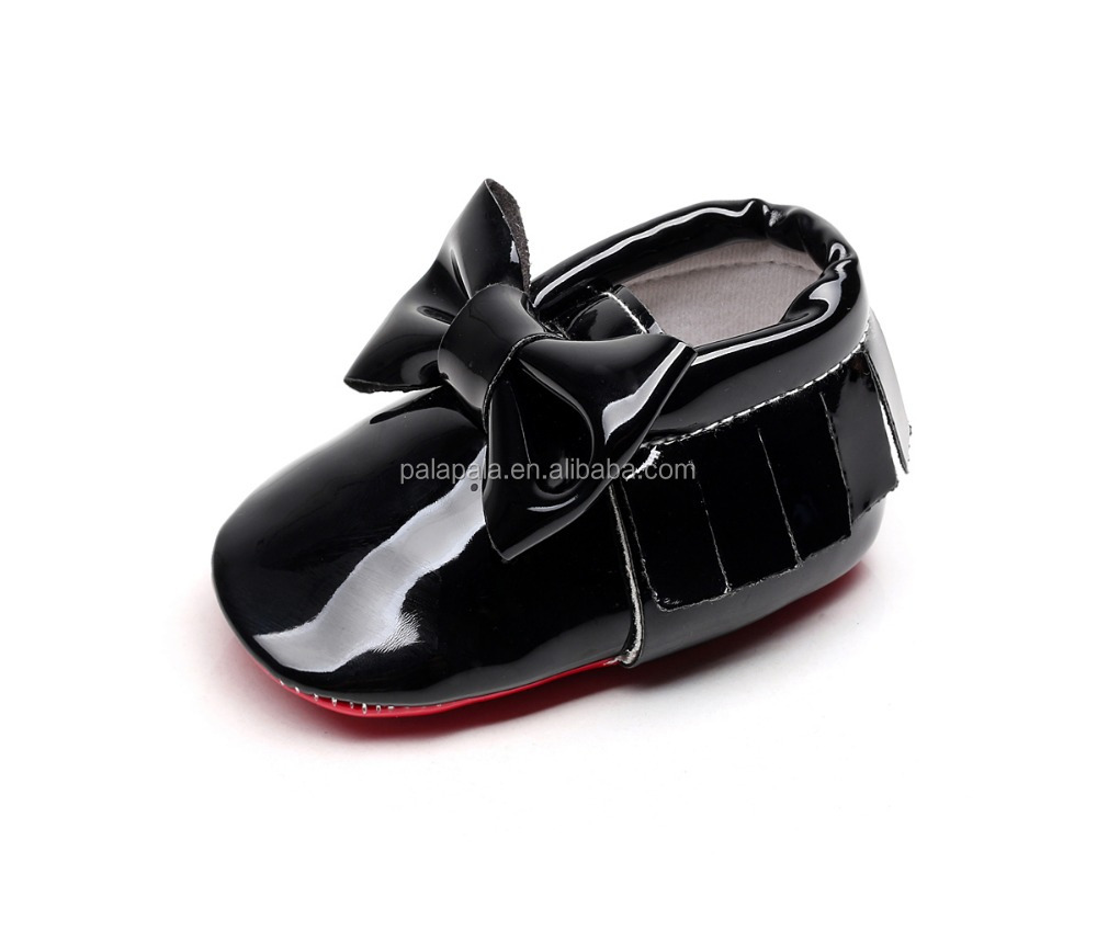 2016 the new children's shoes wholesale Han edition patent leather bowknot baby princess shoes fashion girls baby moccasins