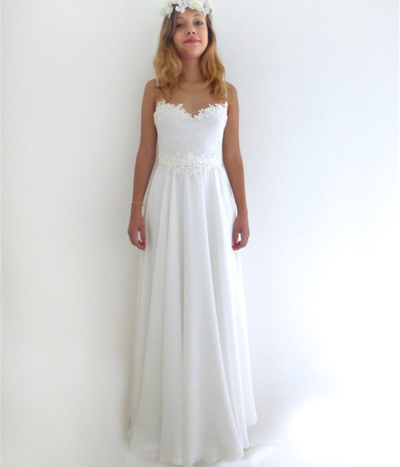 Simple Elegant Lace Wedding Dresses Naf Dresses: Simple Ivory Lace Beach Wedding Dresses 2015 Elegant Floor