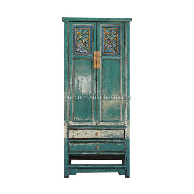 antique ancient cheap Chinese wooden furniture wholesale lacquered cupboard