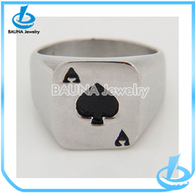 New arrival hip hop poker biker ring steel