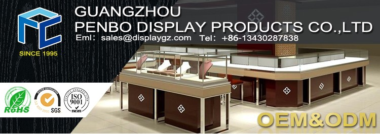 Top level customized cosmetic display stand cosmetic display showcase cosmetic display cabinet and showcase design
