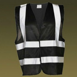 High Visibility Motorcycle Reflective Black Safety Vest - Buy High ... 02b1970611d