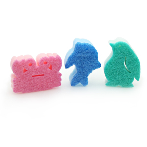 Animal shaped kitchen cleaning sponge scourer