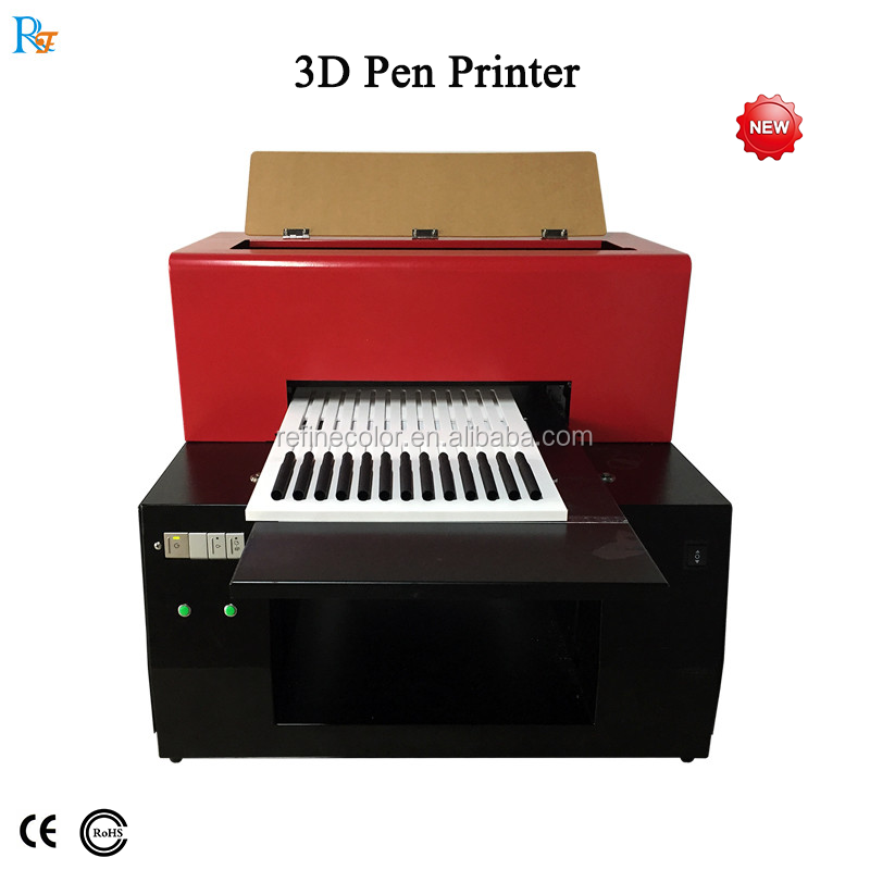 Factory a3 uv led flatbed printer bottle pen label printing machine price