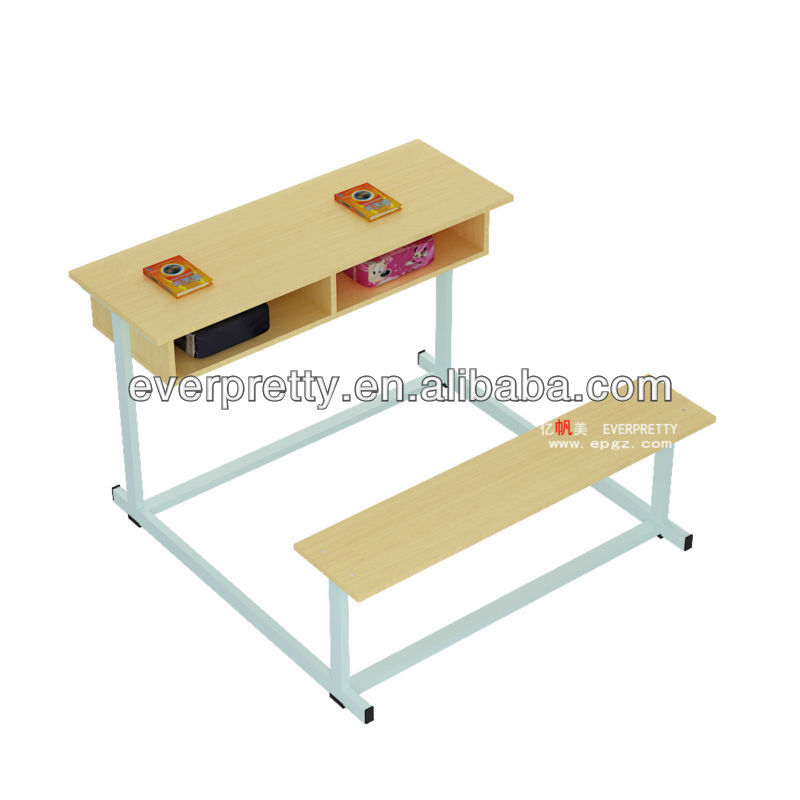school table bench,school benches,two person desk furniture