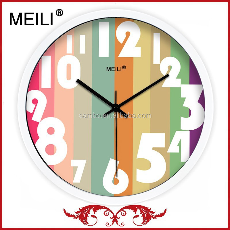 Stainless Steel Home Deco Clock With Silent Movement