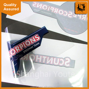 Custom die cut storefront window clear labels sticker with digital printing transparent logo vinyl decal