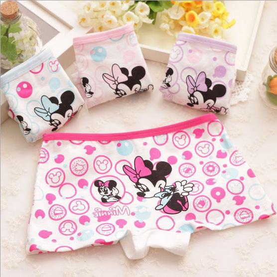 New children s cartoon Mickey printed cotton underwear baby girls underwear boxer briefs kids panties wholesale