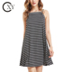 Custom Women Comfortable Striped Swing Cami Slip Dresses