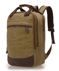 Quanzhou New Fashionable Organic Cotton Backpack Men Canvas Backpack