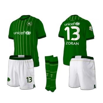 De Fútbol Jersey amarillo de simple uniforme de fútbol de sublimación verde  uniformes ... 86d510c465138