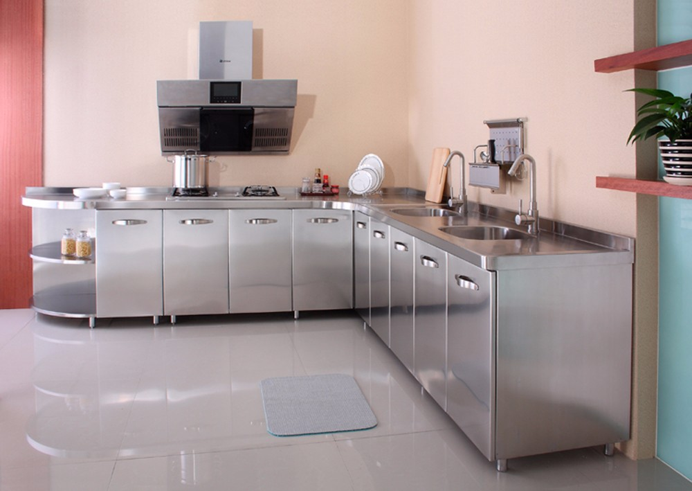 Custom Modular 304 Stainless Steel Kitchen Sink Cabinets