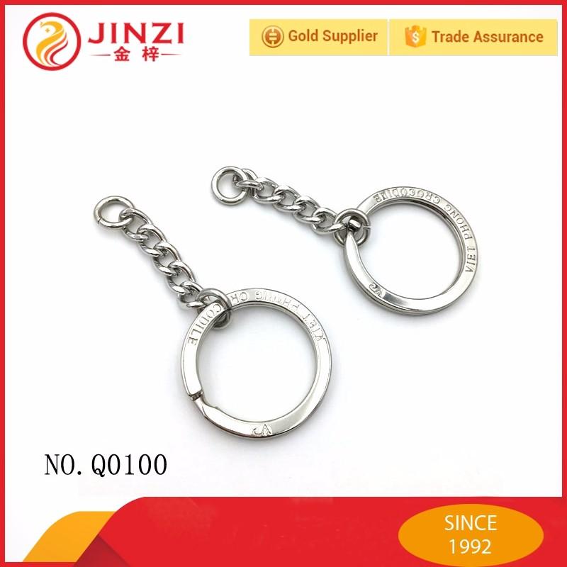Logotipo da marca personalizado gravar vários coloridos anéis de aço  inoxidável da corrente chave e291632a07