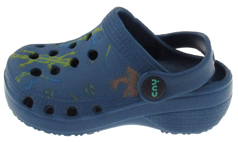 Capelli New York Toddler Boys Leaping lizards printed injected EVA clog with backstrap