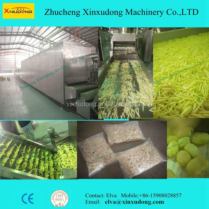 300-2000kgh Factory Supplier Automatic Factory Potato Frozen French fries Equipments