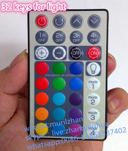 Mini 32 Keys Waterproof Remote Control with Many colors Layout for Light with Customize RC5 Code,Sonyi code