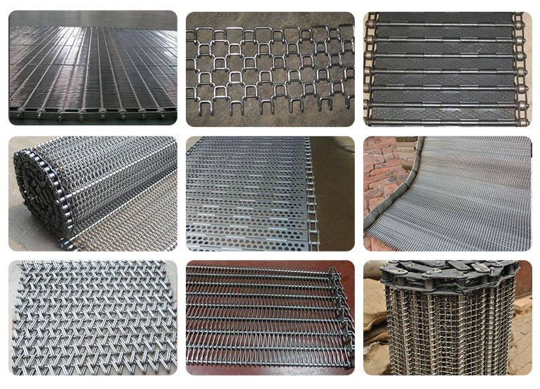 304 Stainless Steel Rantai Conveyor Belting Conveyor Belt Mesh Lembar