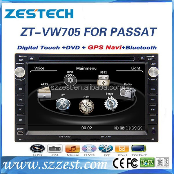 car gps navigation for vw Passat B5 car gps navigation system with dvd player 3G RDS video ZT-VW705