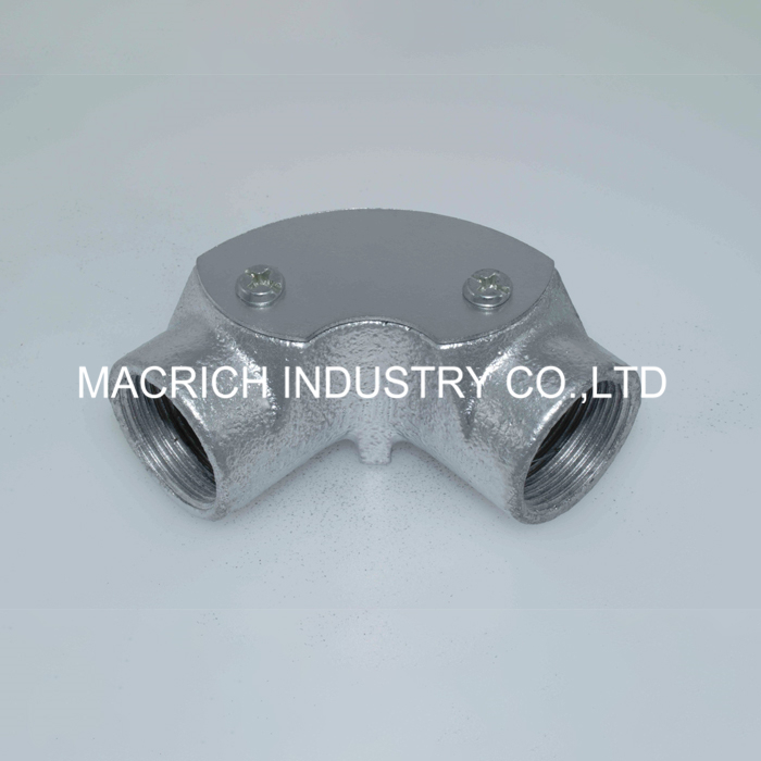 hot galvanized malleable iron inspection 90 degree elbow pipe