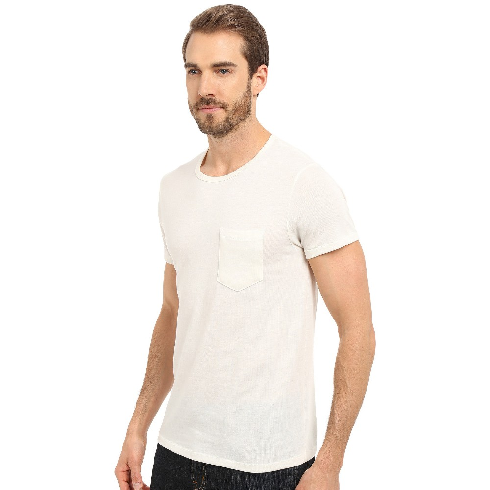 Men basic plain cotton t shirt chest with pocket bulk buy for American apparel plain t shirts bulk