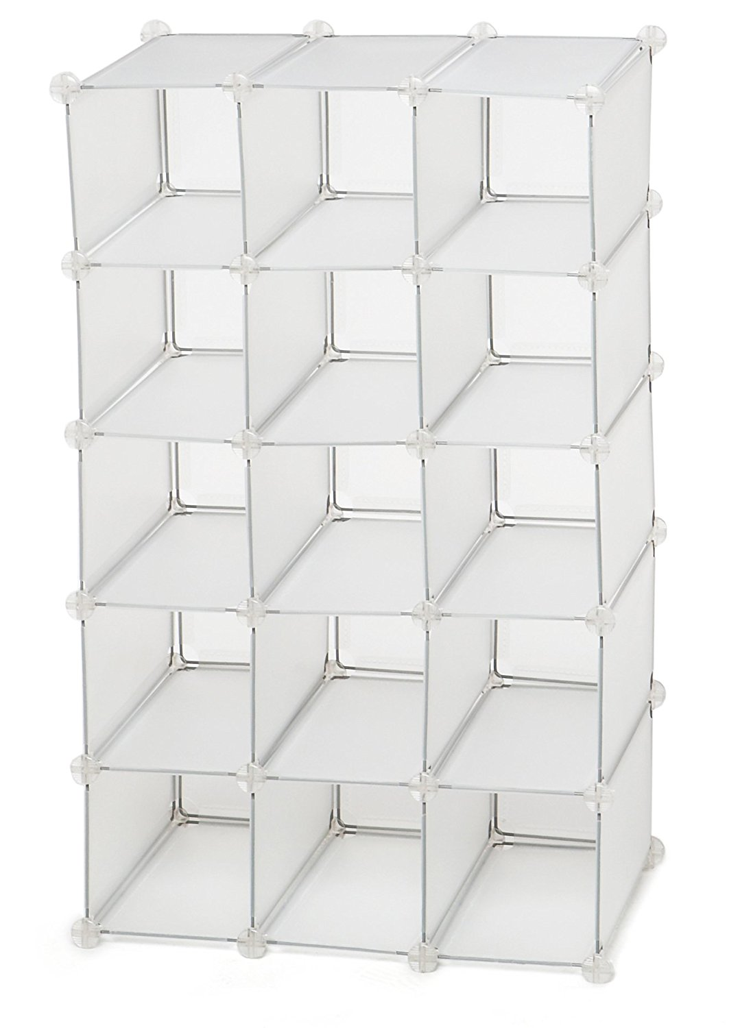 Get Quotations Storage Solutions 15 Pair Shoe Cubby White Frost