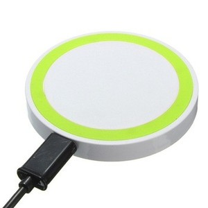 custom logo fast mobile phone round wireless charger