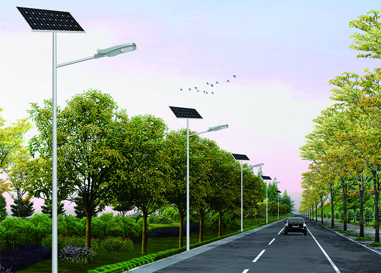 China yangzhou stand alone solar pv panel led luminaire street light
